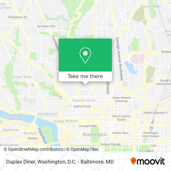 Mapa de Duplex Diner