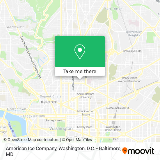 Mapa de American Ice Company