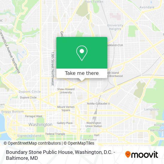 Mapa de Boundary Stone Public House