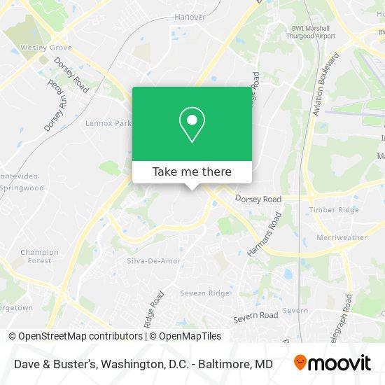 Mapa de Dave & Buster's