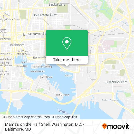 Mapa de Mama's on the Half Shell