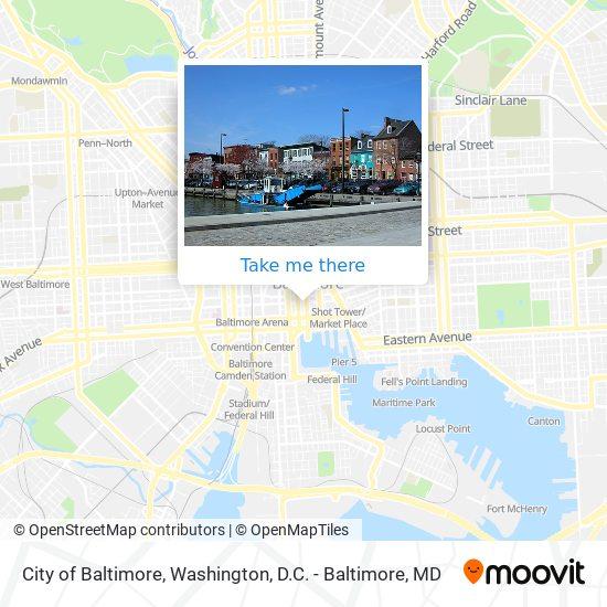 Mapa de City of Baltimore