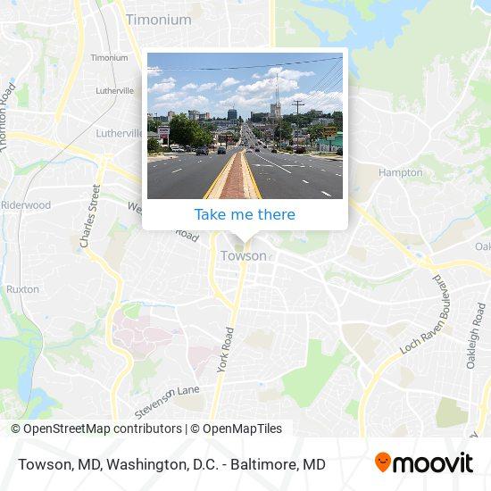 Mapa de Towson, MD