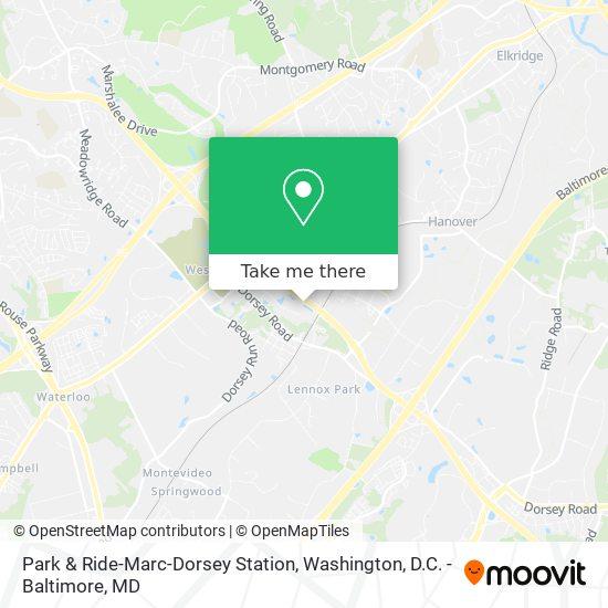 Mapa de Park & Ride-Marc-Dorsey Station