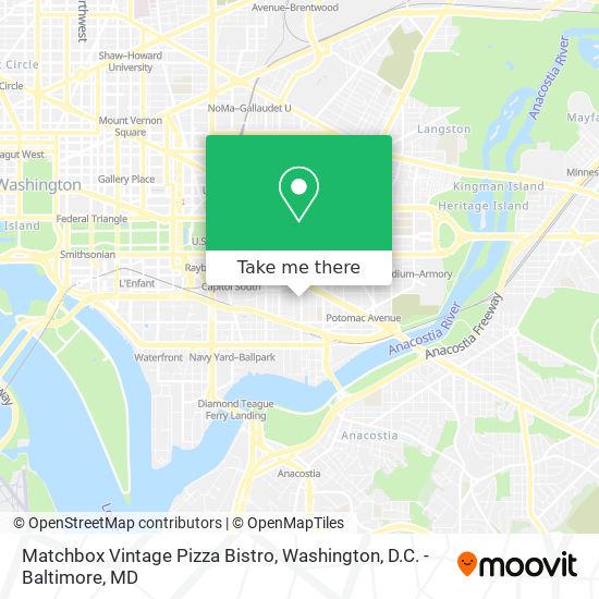 Mapa de Matchbox Vintage Pizza Bistro