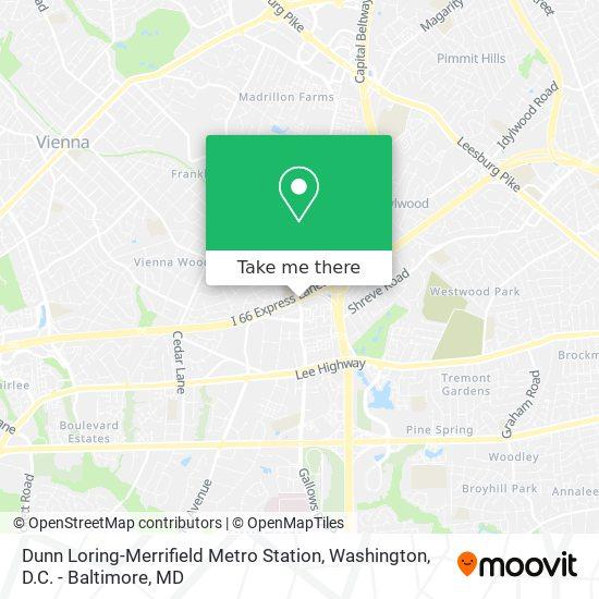 Mapa de Dunn Loring-Merrifield Metro Station