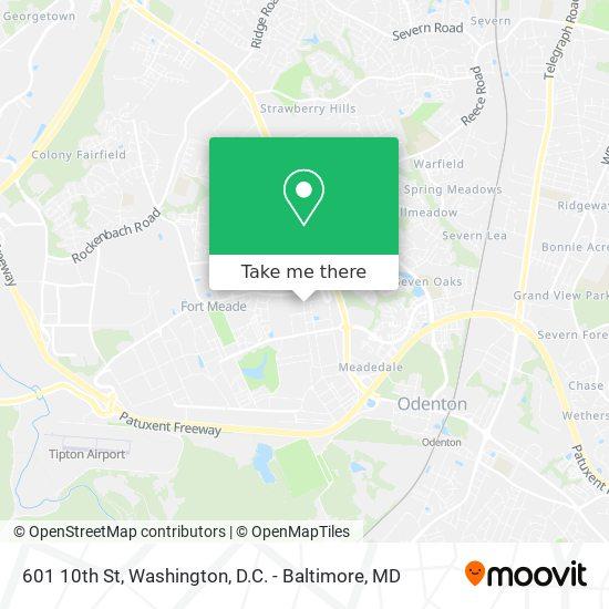 Mapa de 601 10th St