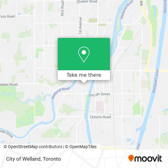 City of Welland map