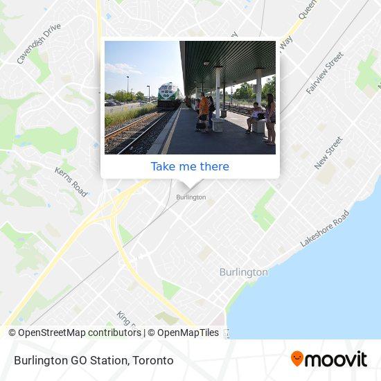 Burlington GO Station map