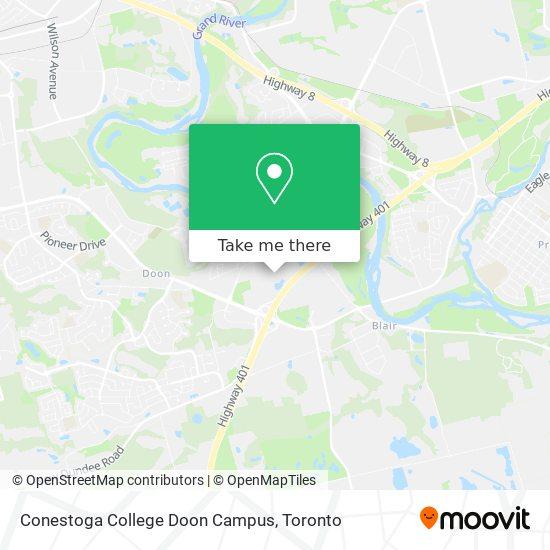Mapa Conestoga College Doon Campus