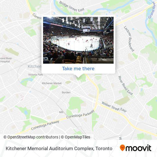 Kitchener Memorial Auditorium Complex plan