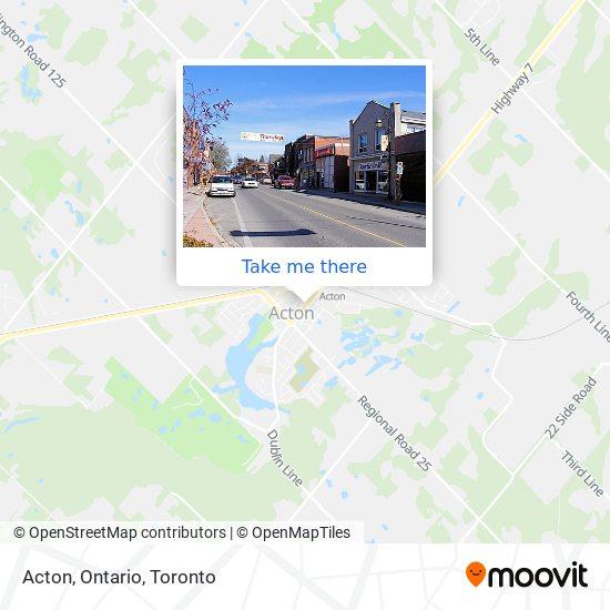 Acton, Ontario地图