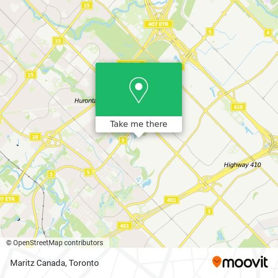 Mapa Maritz Canada