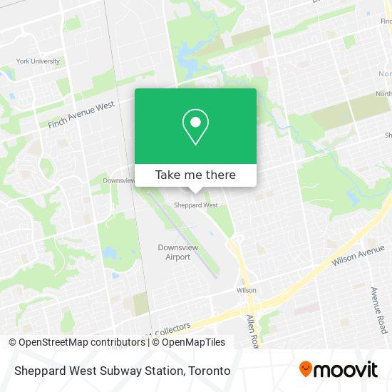 Sheppard West Subway Station plan
