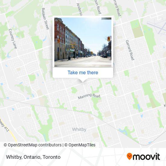 Mapa Whitby, Ontario