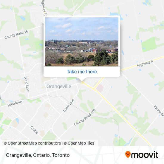 Orangeville, Ontario map
