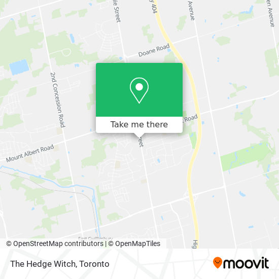 The Hedge Witch mapa
