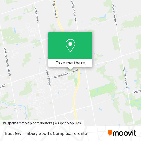 East Gwillimbury Sports Complex mapa
