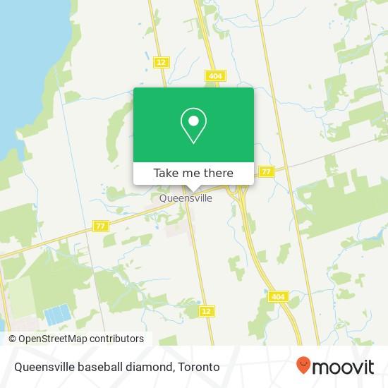 Queensville baseball diamond mapa