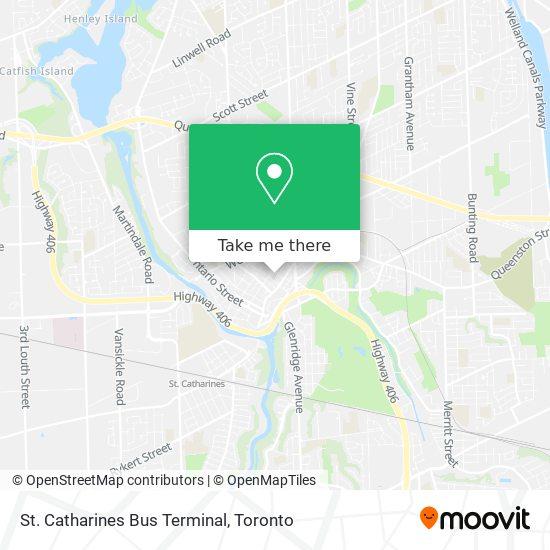 Mapa St. Catharines Bus Terminal