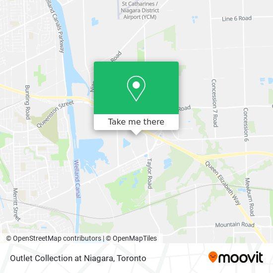 Outlet Collection at Niagara map