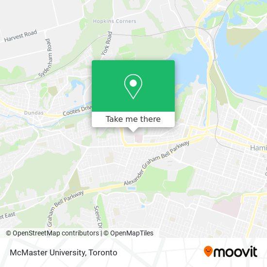 McMaster University map