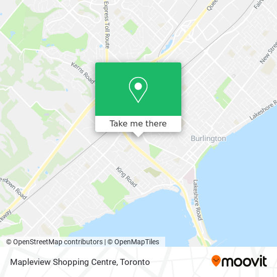 Mapleview Shopping Centre map