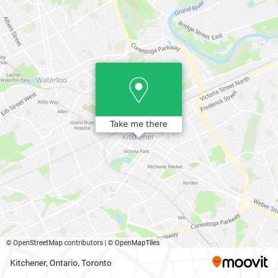 Kitchener, Ontario map