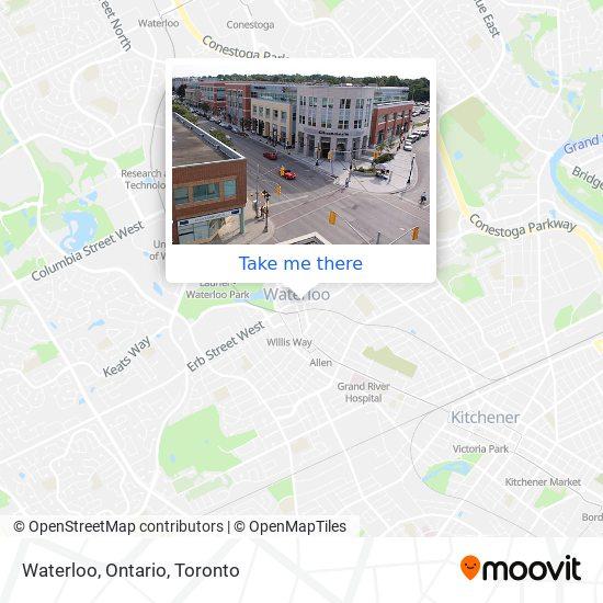 Waterloo, Ontario map