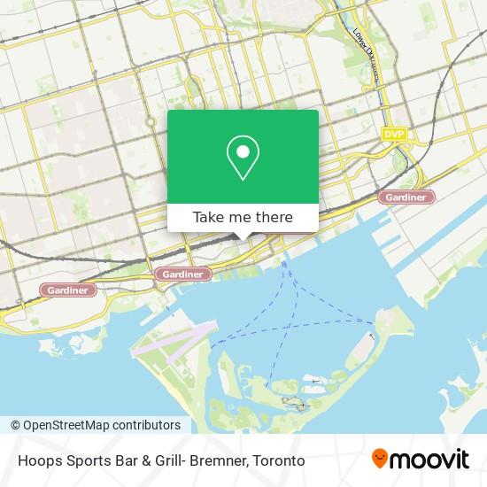 Hoops Sports Bar & Grill- Bremner mapa