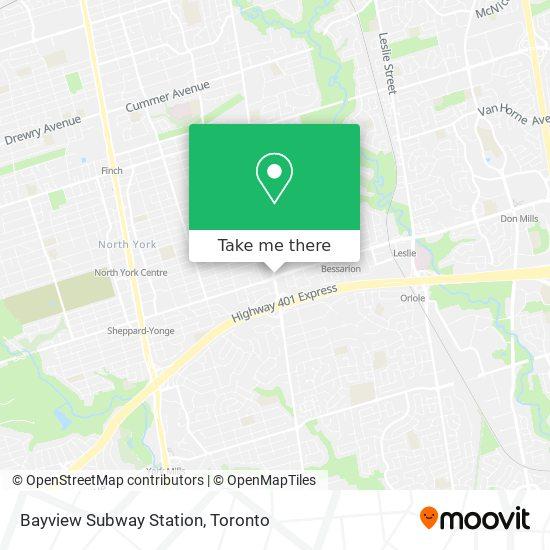 Mapa Bayview Subway Station