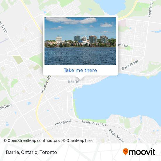 Mapa Barrie, Ontario