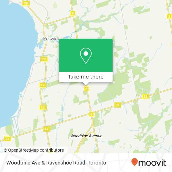 Woodbine Ave & Ravenshoe Road mapa