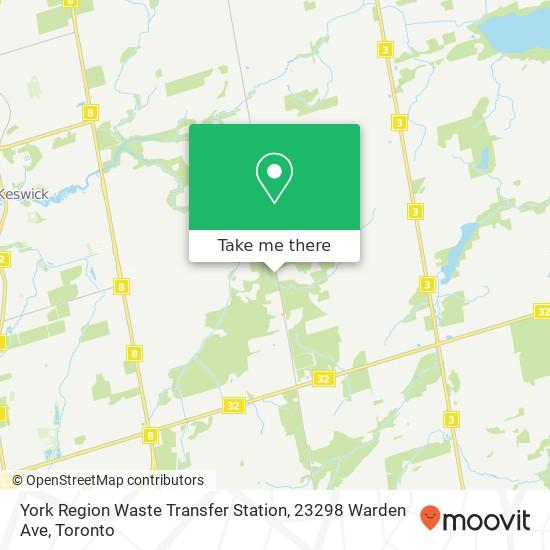 Mapa York Region Waste Transfer Station, 23298 Warden Ave