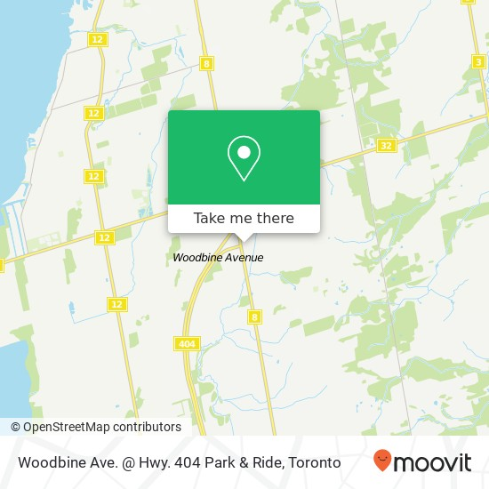 Woodbine Ave. @ Hwy. 404 Park & Ride plan