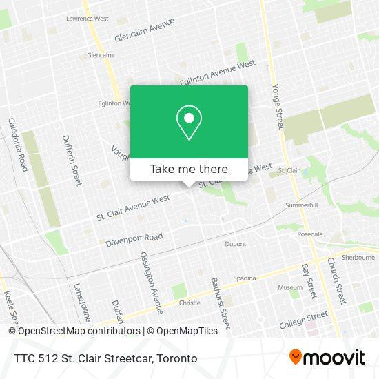 Mapa TTC 512 St. Clair Streetcar