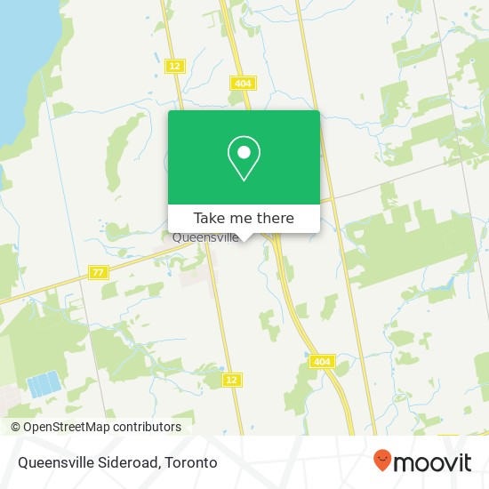 Queensville Sideroad mapa