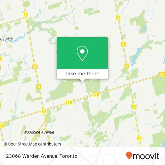 Mapa 23068 Warden Avenue