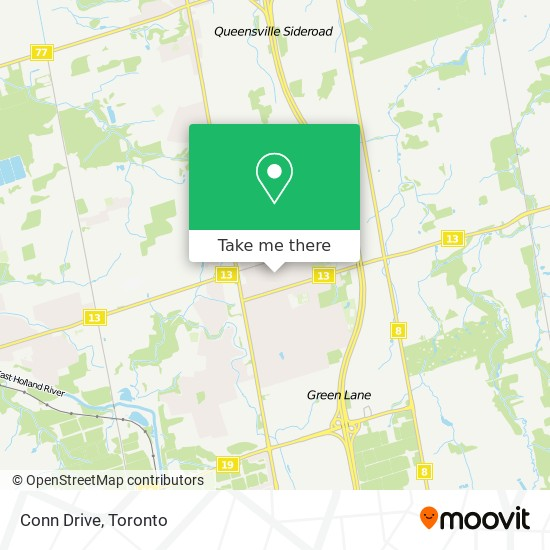Conn Drive mapa