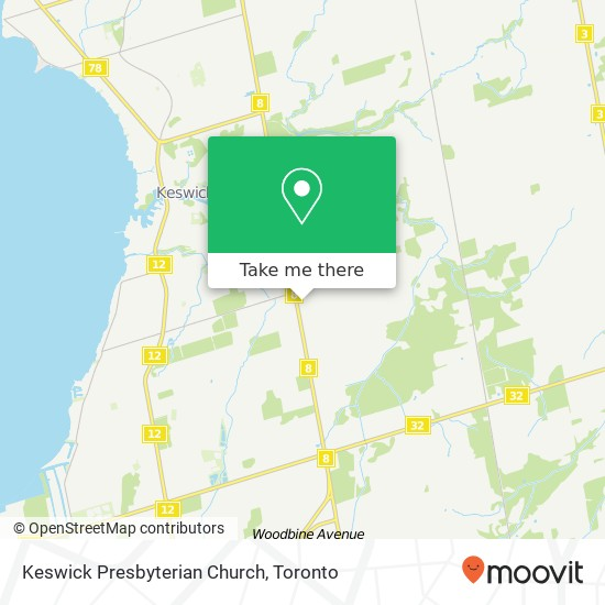 Keswick Presbyterian Church mapa