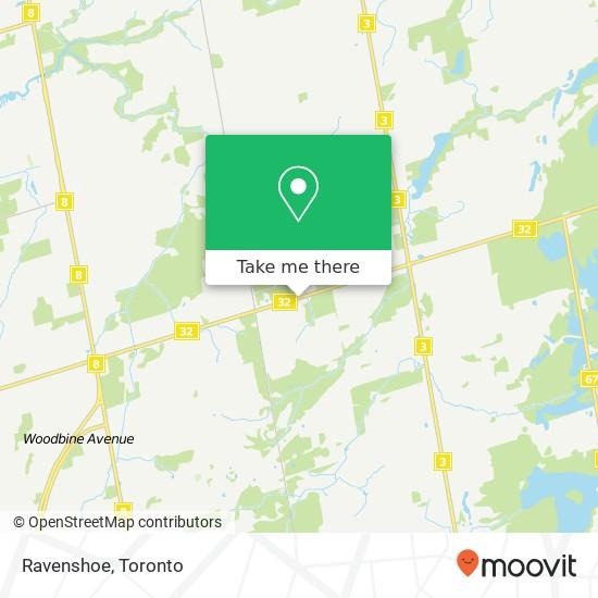 Mapa Ravenshoe
