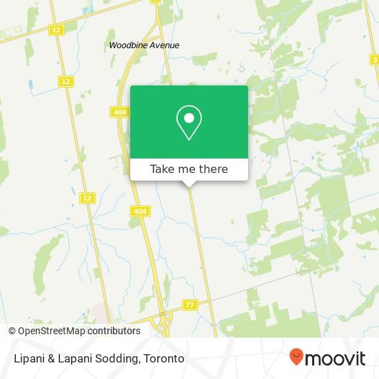 Mapa Lipani & Lapani Sodding
