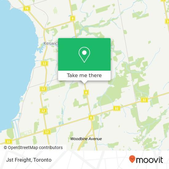 Jst Freight mapa