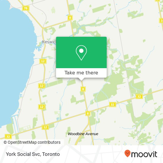 York Social Svc mapa