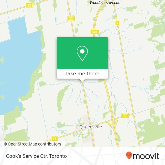 Mapa Cook's Service Ctr