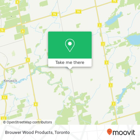 Mapa Brouwer Wood Products