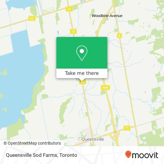 Mapa Queensville Sod Farms