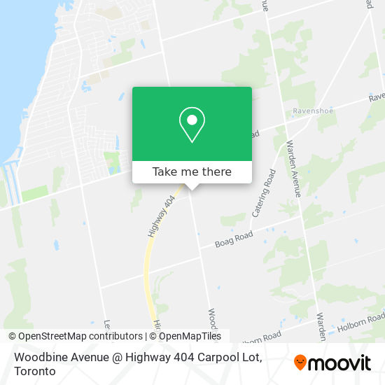 Woodbine / Ravenshoe / 404 Carpool Lot地图