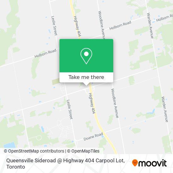 Queensville Sideroad / 404 Carpool Lot plan
