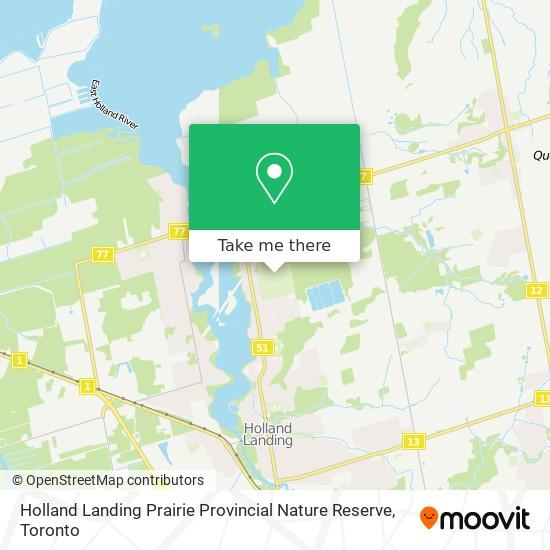 Holland Landing Prairie Provincial Nature Reserve mapa